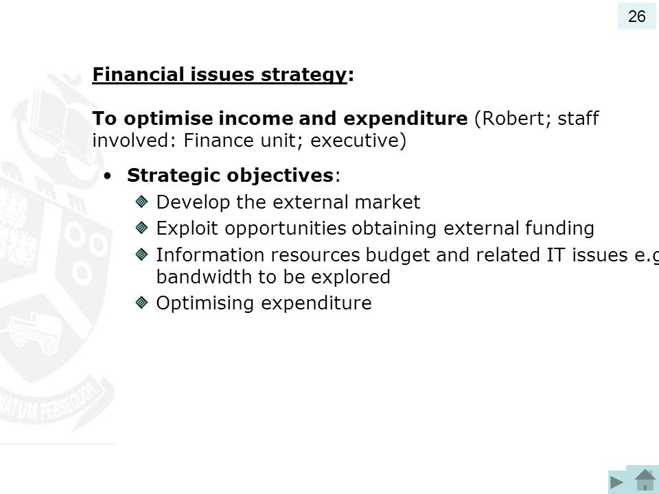 Strategic objectives: Develop the external market