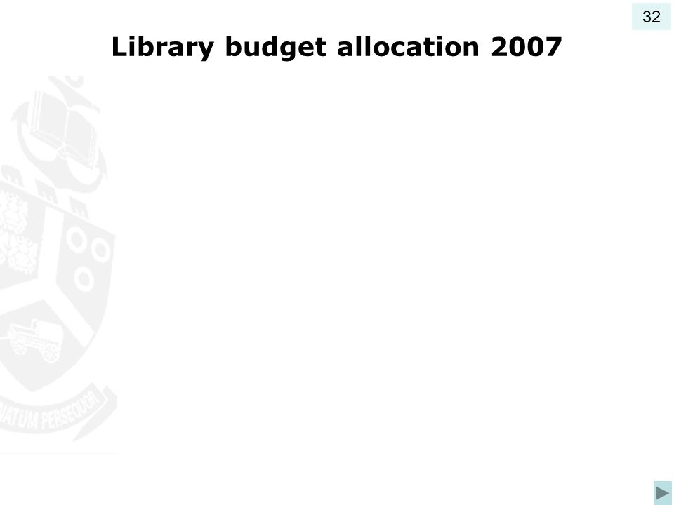 Library budget allocation 2007