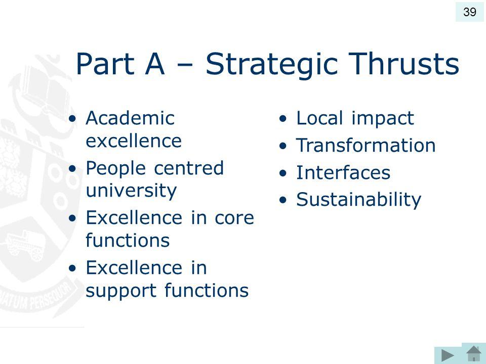 Part A – Strategic Thrusts