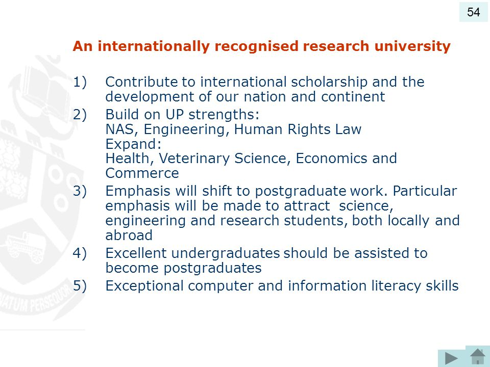 An internationally recognised research university