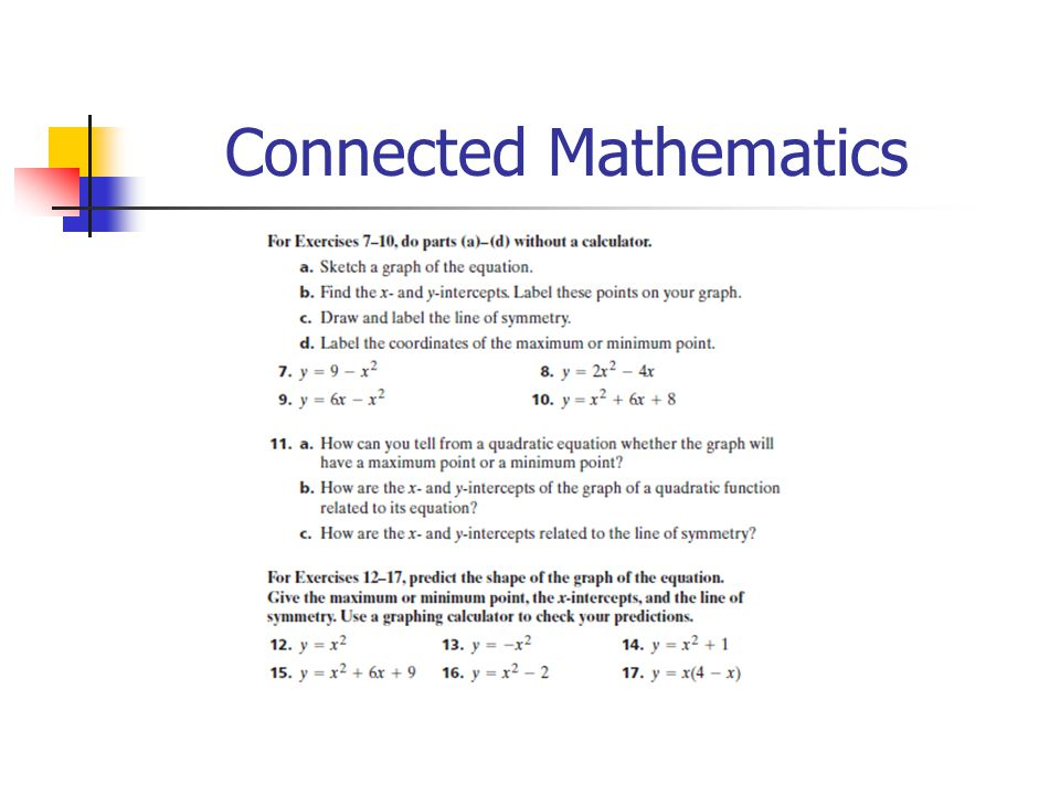 Connected Mathematics