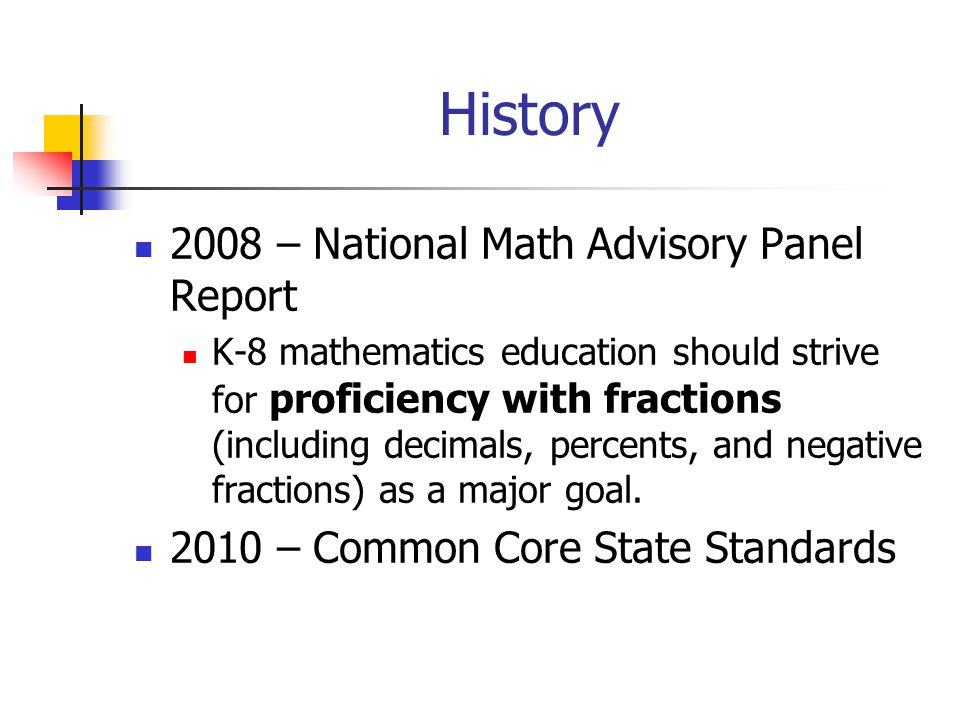 History 2008 – National Math Advisory Panel Report