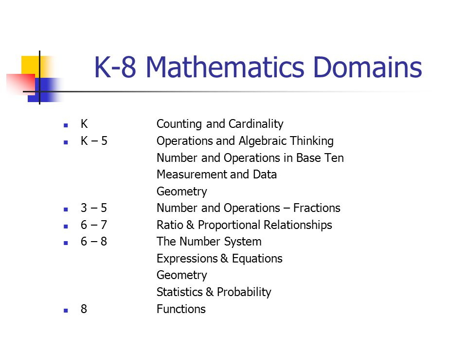 K-8 Mathematics Domains