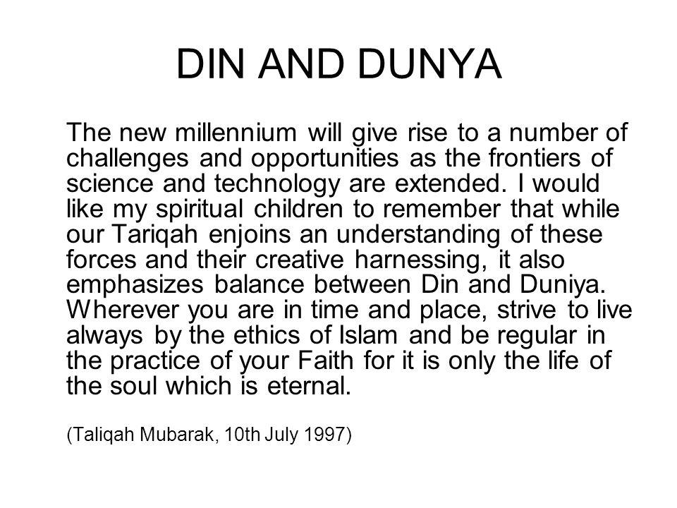 DIN AND DUNYA