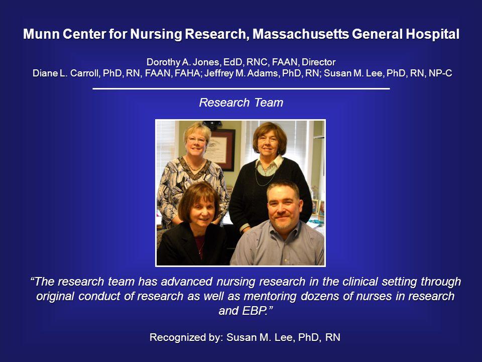 Munn Center for Nursing Research, Massachusetts General Hospital