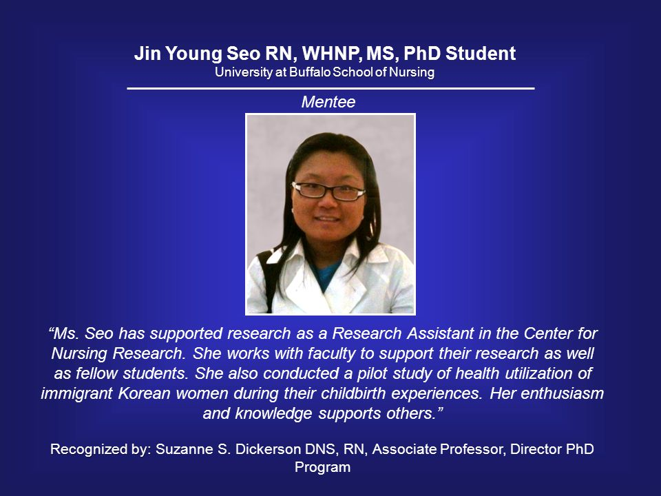 Jin Young Seo RN, WHNP, MS, PhD Student