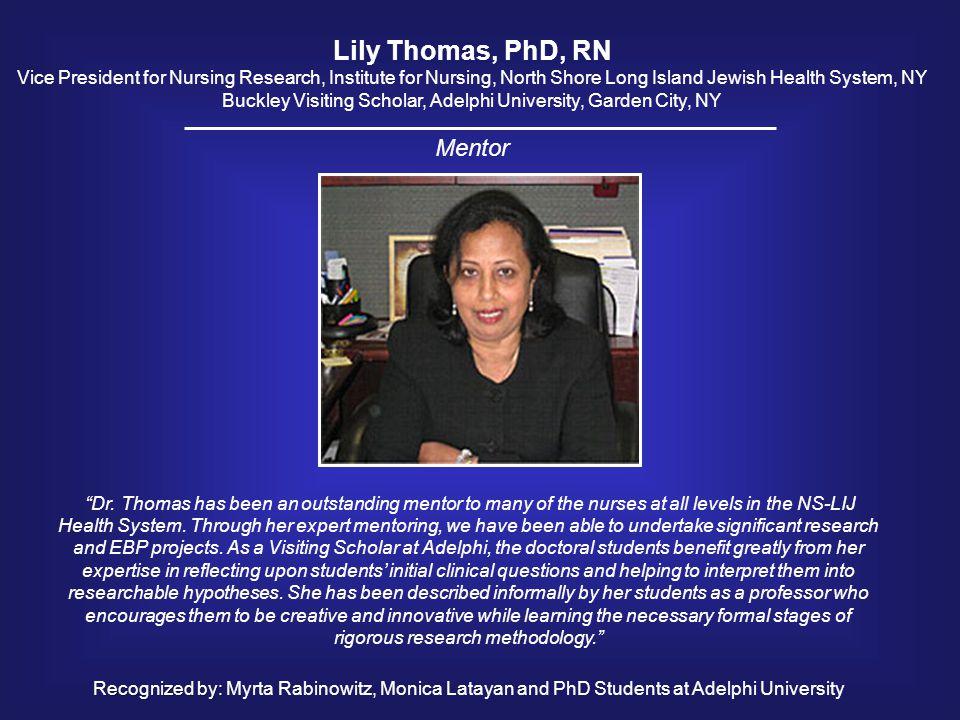 Lily Thomas, PhD, RN Mentor