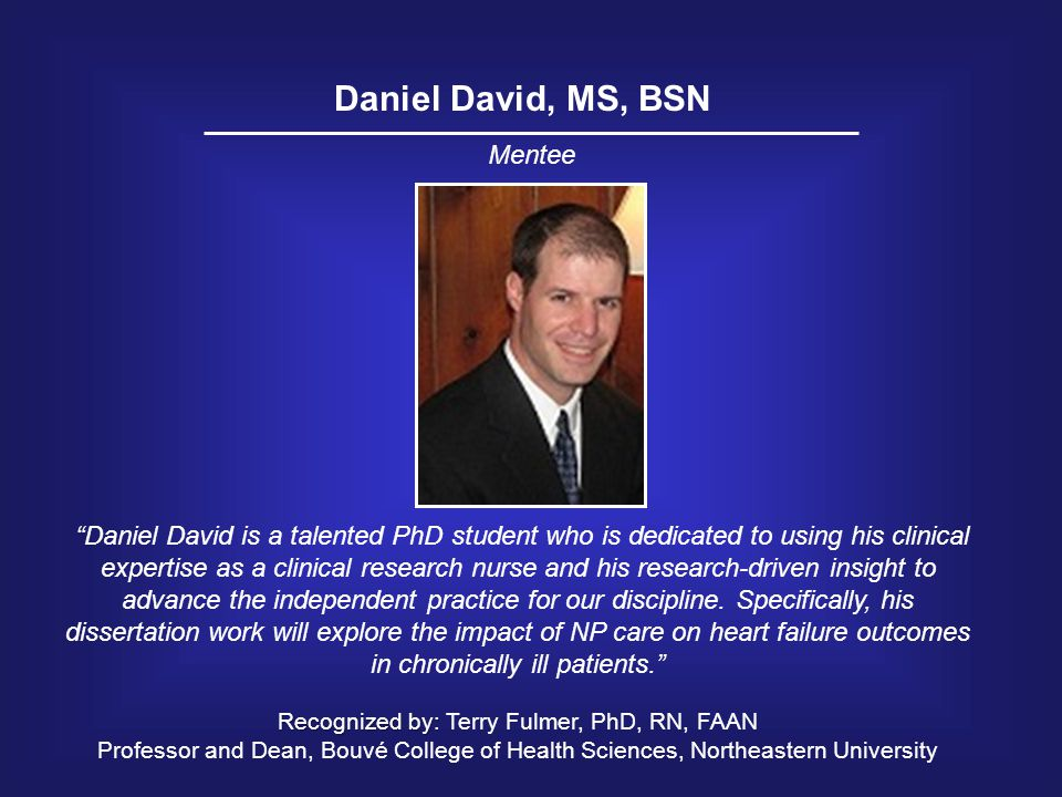 Recognized by: Terry Fulmer, PhD, RN, FAAN