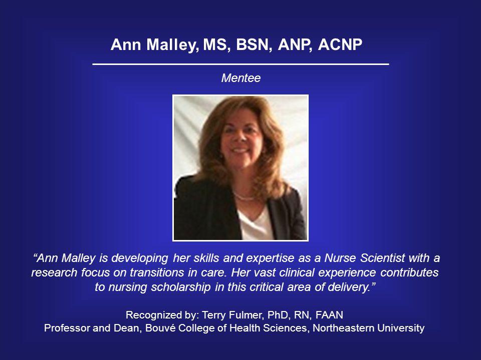 Ann Malley, MS, BSN, ANP, ACNP