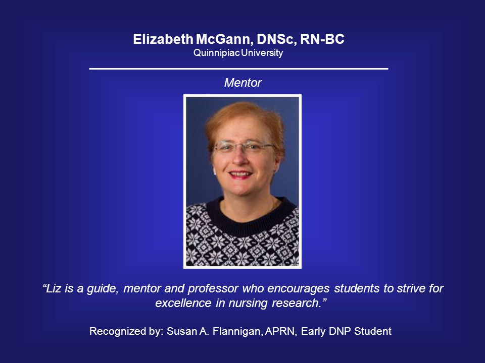 Elizabeth McGann, DNSc, RN-BC