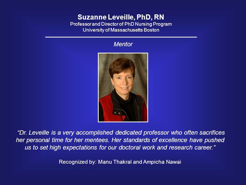 Suzanne Leveille, PhD, RN