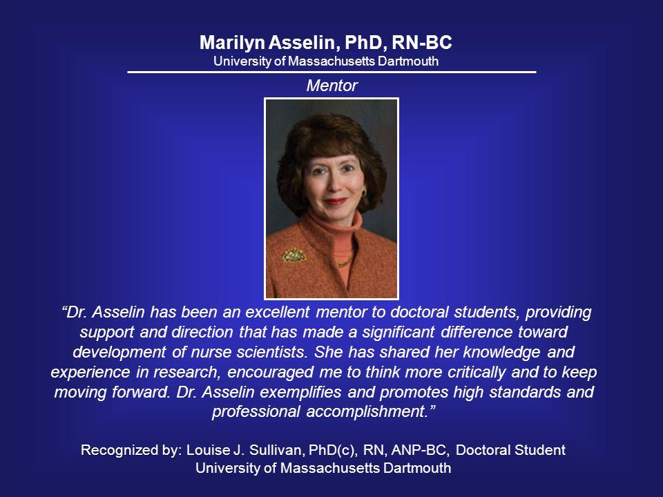 Marilyn Asselin, PhD, RN-BC
