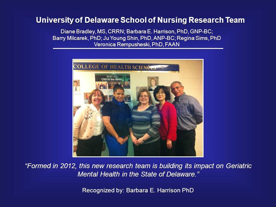 University of Delaware School of Nursing Research Team