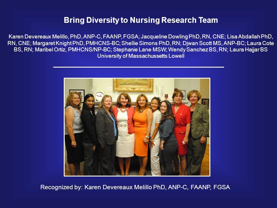 Bring Diversity to Nursing Research Team
