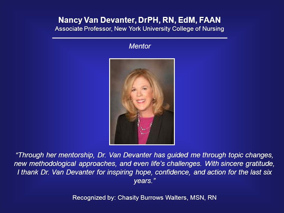 Nancy Van Devanter, DrPH, RN, EdM, FAAN