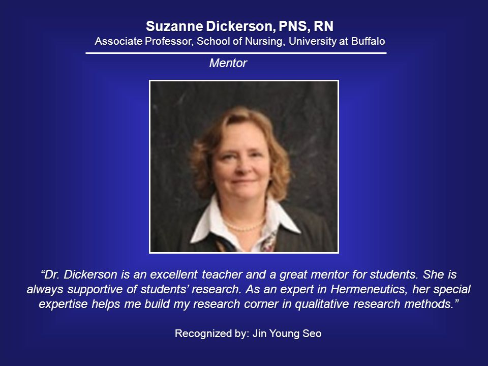 Suzanne Dickerson, PNS, RN