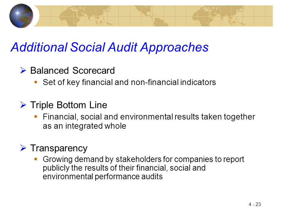 Additional Social Audit Approaches