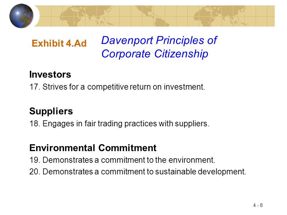 Davenport Principles of Corporate Citizenship