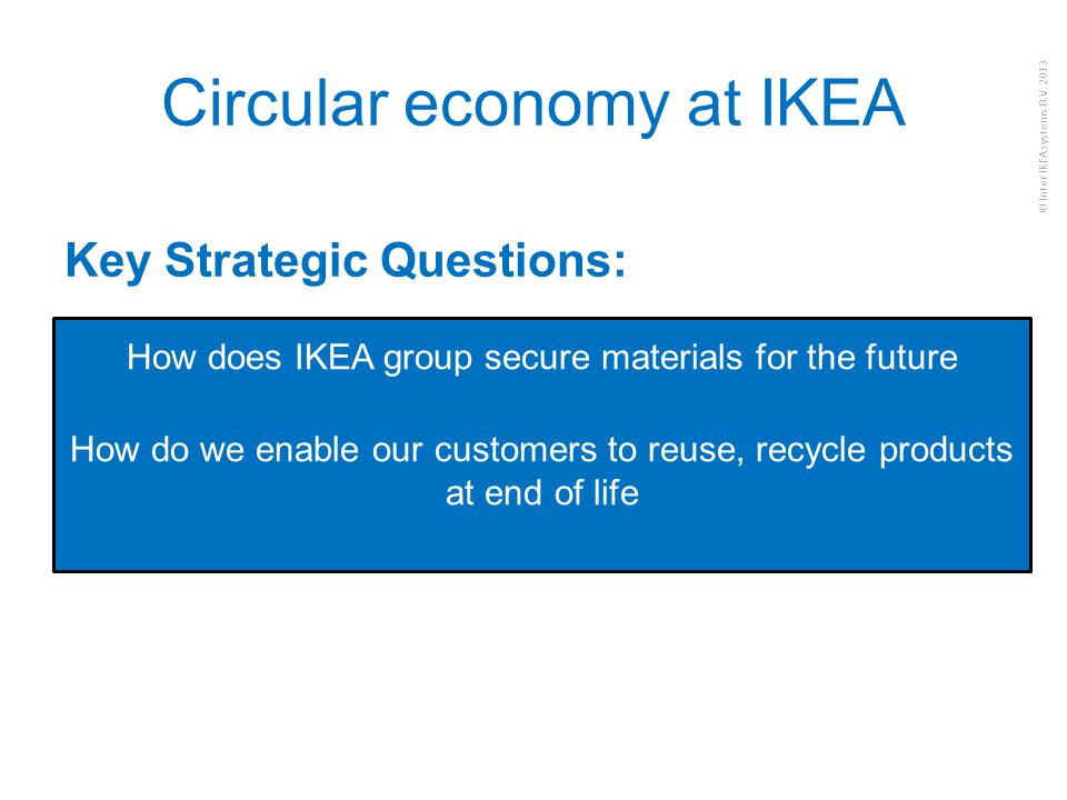 Circular economy at IKEA
