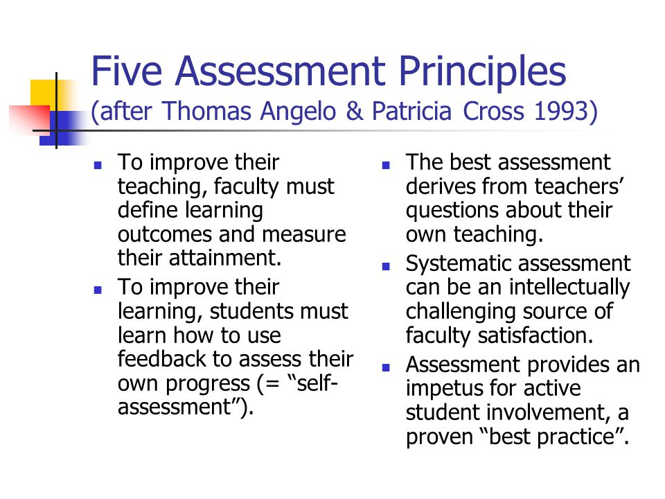 the differing principles of assessment of 22032013 presented by lisa seto-turzo unit 012 principles of assessment in lifelong learning types of assessment assessment is.