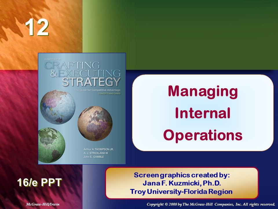 Managing Internal Operations