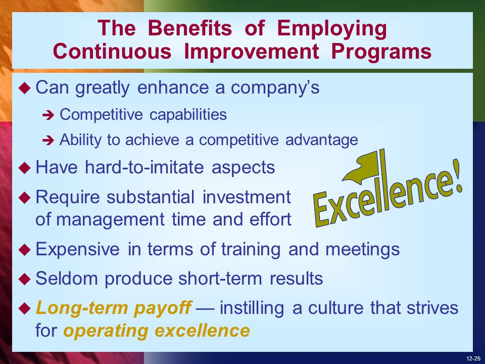 The Benefits of Employing Continuous Improvement Programs