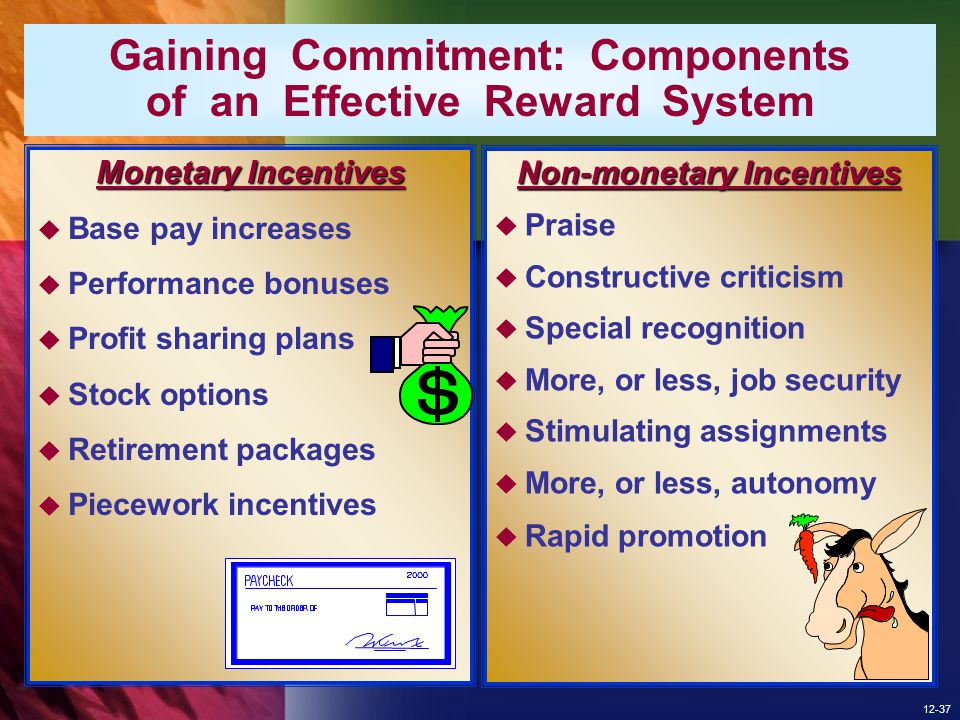 Gaining Commitment: Components of an Effective Reward System