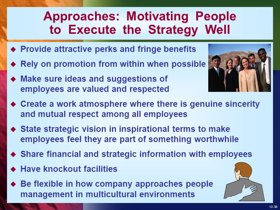 Approaches: Motivating People to Execute the Strategy Well