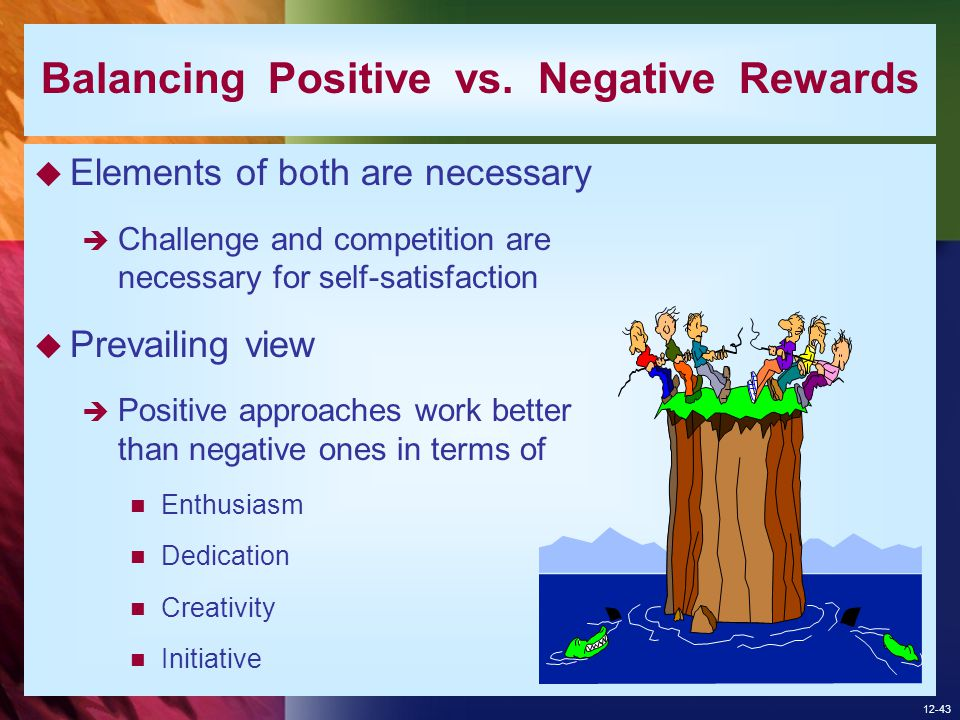 Balancing Positive vs. Negative Rewards