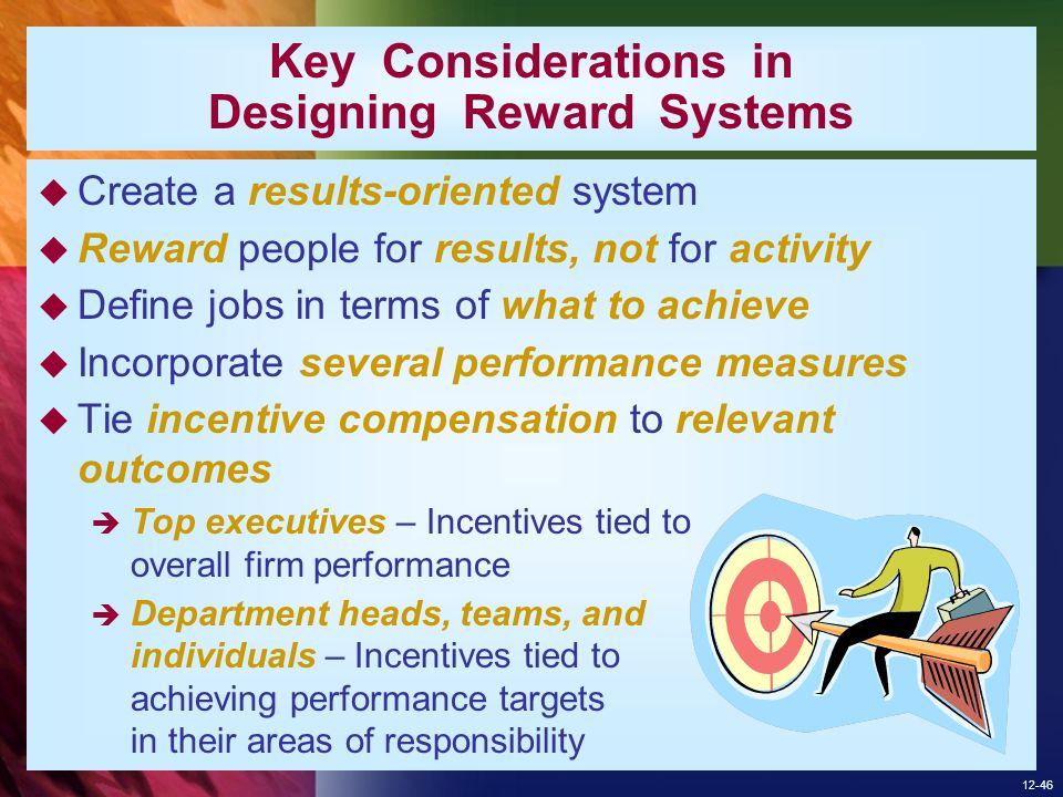 Key Considerations in Designing Reward Systems