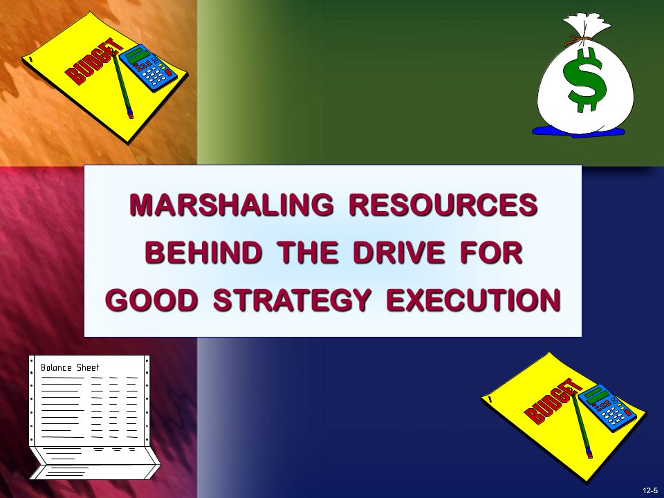 MARSHALING RESOURCES BEHIND THE DRIVE FOR GOOD STRATEGY EXECUTION