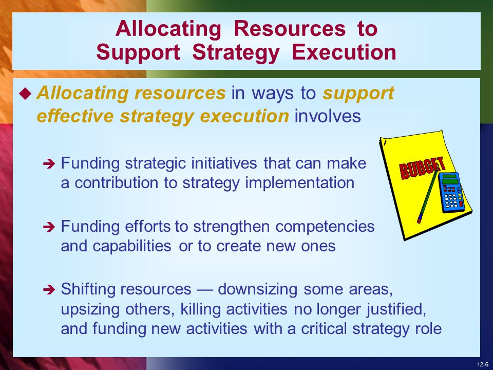 Allocating Resources to Support Strategy Execution
