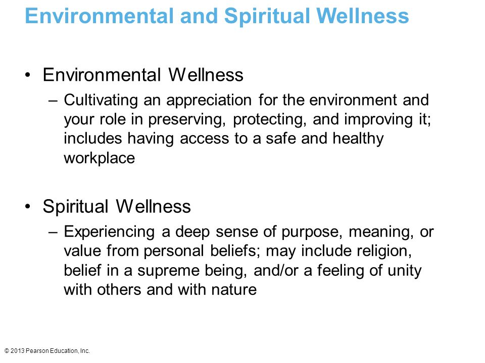 Environmental and Spiritual Wellness