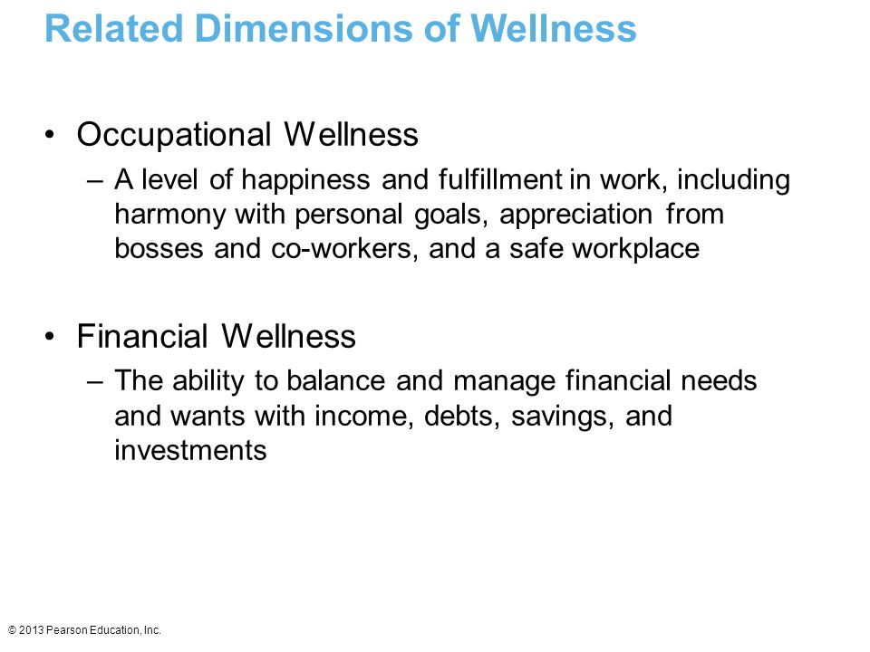 Related Dimensions of Wellness