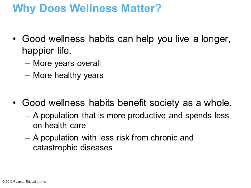 Why Does Wellness Matter