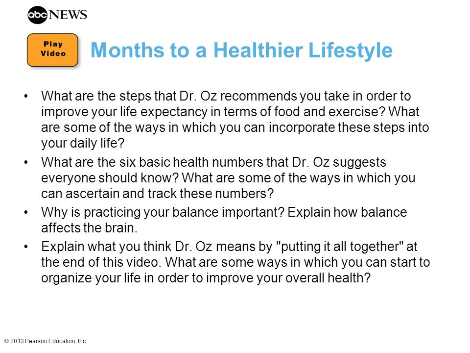 Months to a Healthier Lifestyle