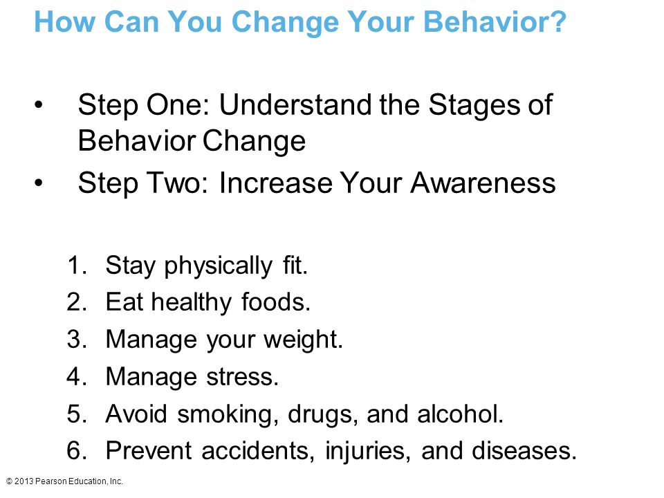 How Can You Change Your Behavior