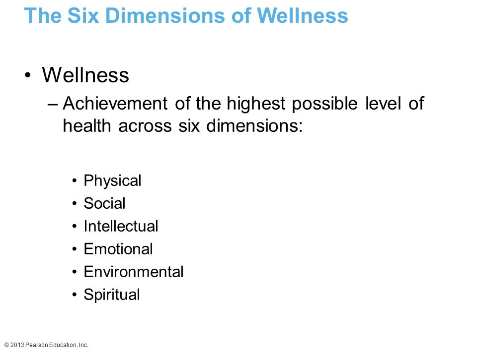 The Six Dimensions of Wellness