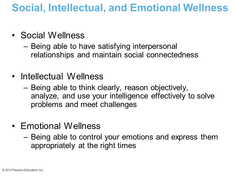 Social, Intellectual, and Emotional Wellness