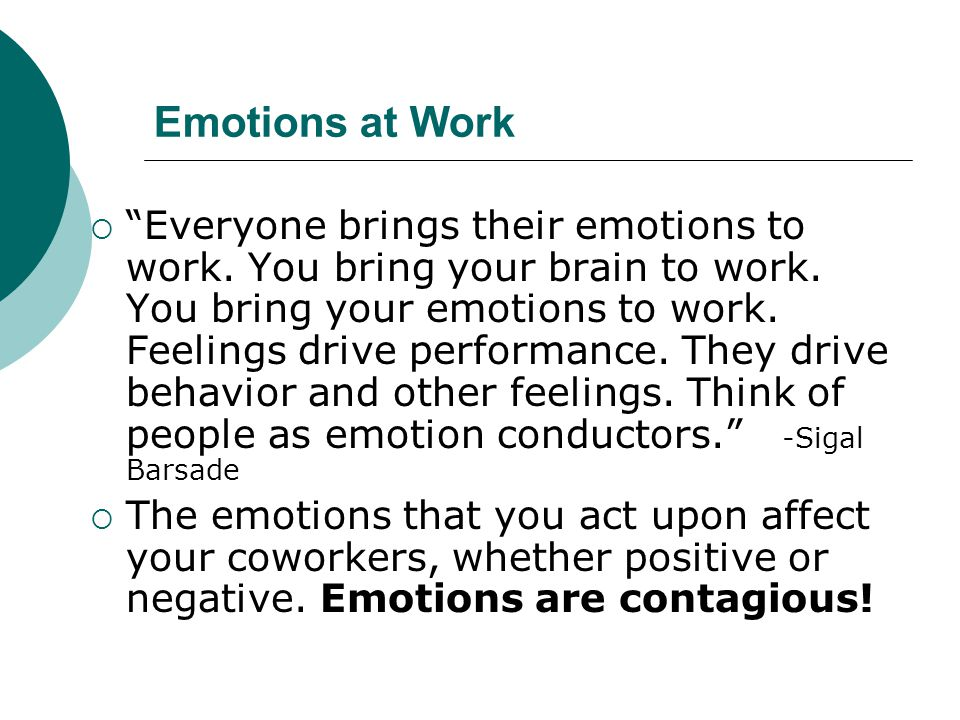 Emotions at Work