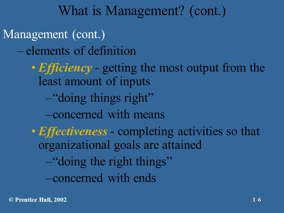 What is Management (cont.)