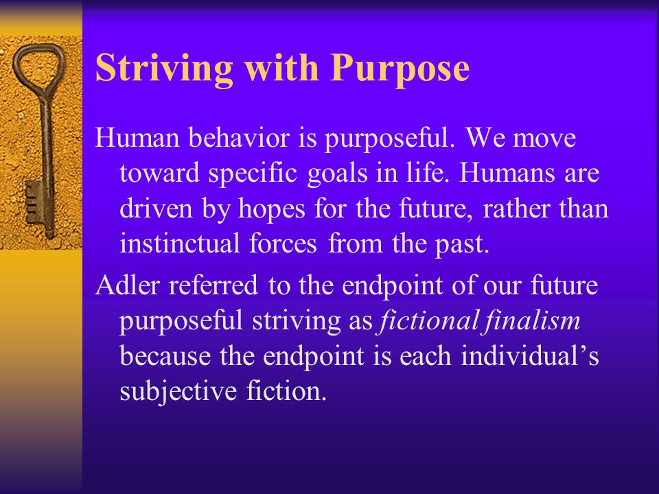 Striving with Purpose
