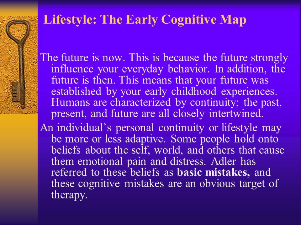 Lifestyle: The Early Cognitive Map