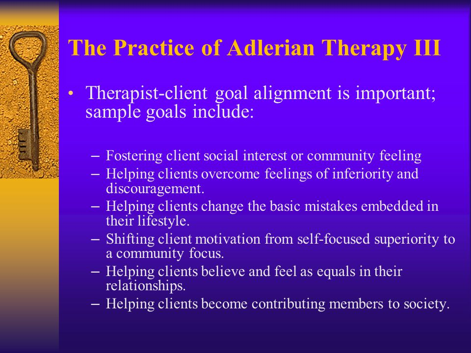 The Practice of Adlerian Therapy III