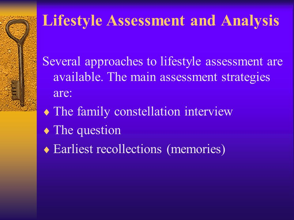 Lifestyle Assessment and Analysis