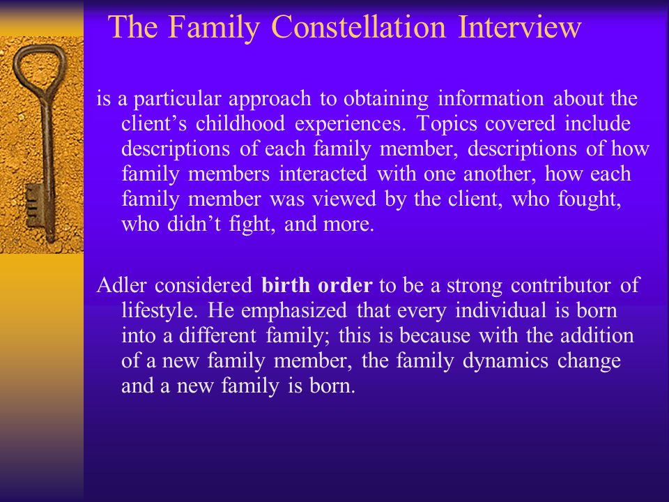 The Family Constellation Interview