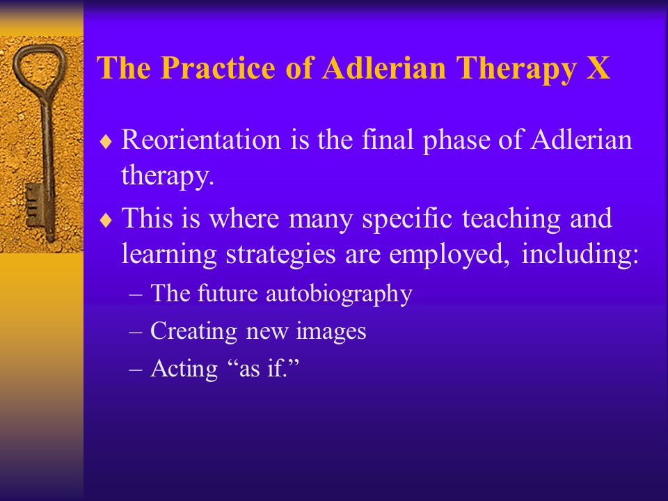 The Practice of Adlerian Therapy X