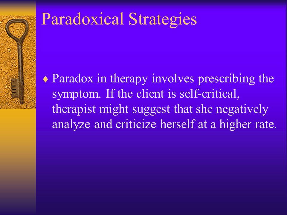 Paradoxical Strategies