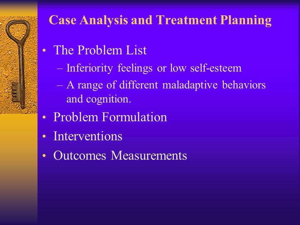 Case Analysis and Treatment Planning