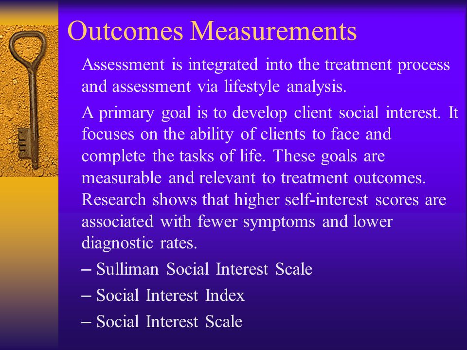 Outcomes Measurements